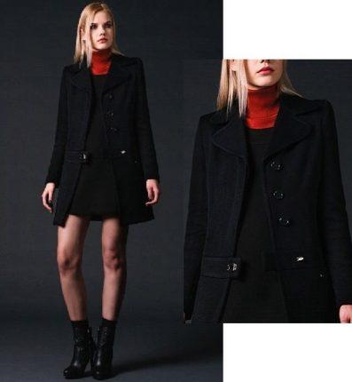 Cappotto nero Phard autunno inverno 2015