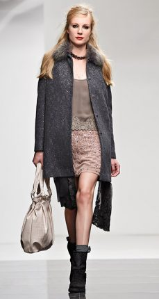 Cappotto paillettes Twin Set autunno inverno 2015