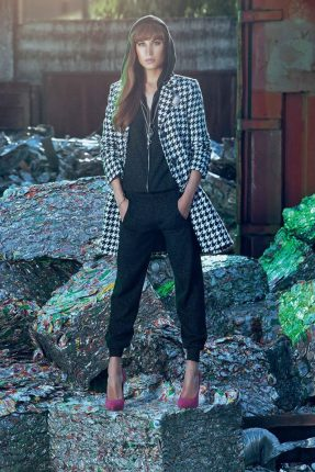 Cappotto quadri Denny Rose autunno inverno 2015