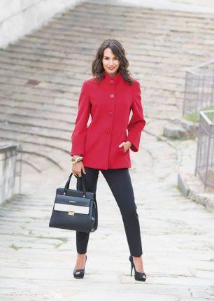 Cappotto rosso Cannella autunno inverno 2017