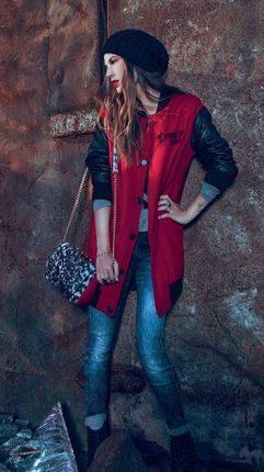 Cappotto rosso Denny Rose autunno inverno 2015