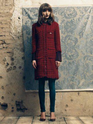 Cappotto rosso Fornarina autunno inverno 2015