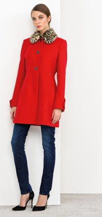 Cappotto rosso Nenette autunno inverno 2015