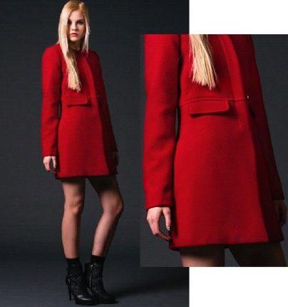 Cappotto rosso Phard autunno inverno 2015