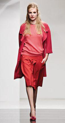 Cappotto rosso Twin Set autunno inverno 2015