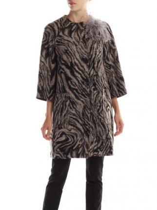 Cappotto zebrato Rinascimento autunno inverno 2015