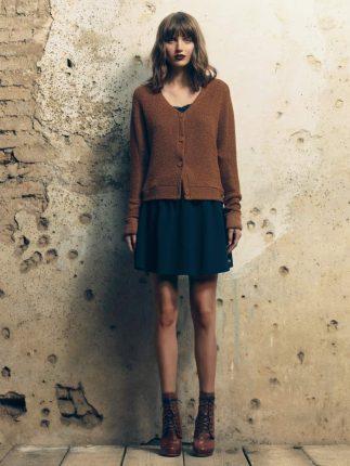 Cardigan marrone Fornarina autunno inverno 2015