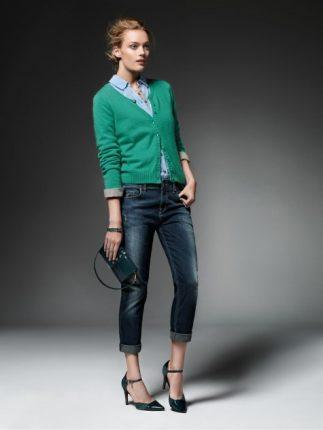 Cardigan verde Jeans Liu Jo autunno inverno 2013 2014