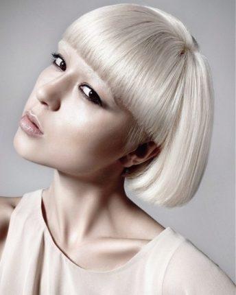 Caschetto geometrico capelli donna 2015