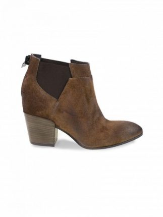 Chelsea boot in camoscio taupe Janet & Janet scarpe autunno inverno 2015