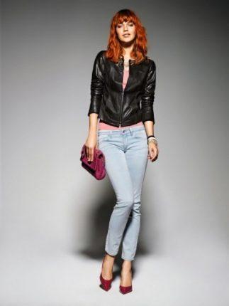 Chiodo di pelle jeans Liu Jo primavera estate 2013