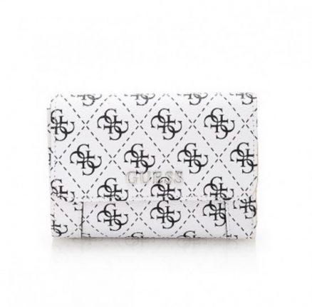 Clutch bianca con patta borsa Guess