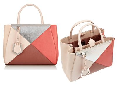 Color blocking shopper 2jours Fendi autunno inverno 2014 2015