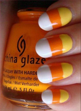 Colori di Halloween per le unghie nail art Halloween