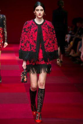 Completo con frange Dolce & Gabbana primavera estate 2015