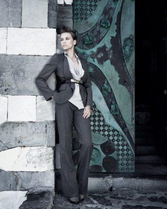 Completo giacca pantalone Carla G autunno inverno 2015