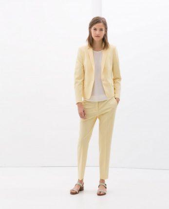 Completo giallo Zara autunno inverno 2014 2015