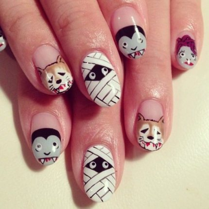 Creature mostruose nail art Halloween