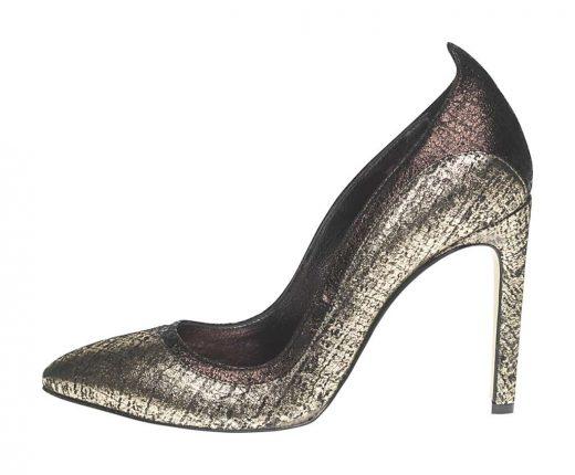 Decollete argento Fornarina scarpe autunno inverno 2015