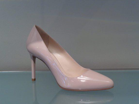 Décolleté lucide rosa Prada