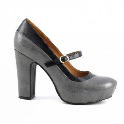 Decollete tacco largo Cafè Noir scarpe autunno inverno 2015