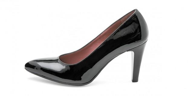 Dècolletès nere in vernice Frau scarpe autunno inverno 2014 2015