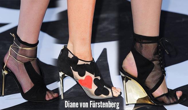 Diane von Furstenberg scarpe catalogo autunno inverno 2014 2015