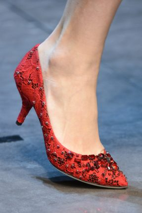 Dolce Gabbana Fall Winter 2013 2014 Red shoes