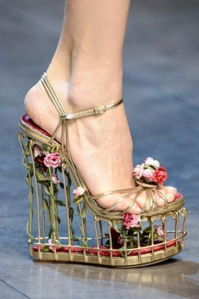 Dolce Gabbana sandali con zeppa