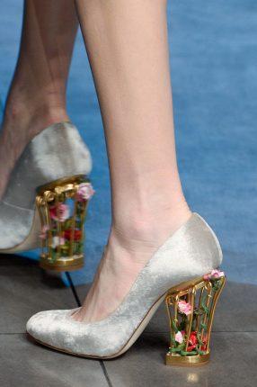Dolce Gabbana scarpe tacco largo autunno inverno