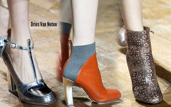Dries Van Noten scarpe catalogo autunno inverno 2014 2015