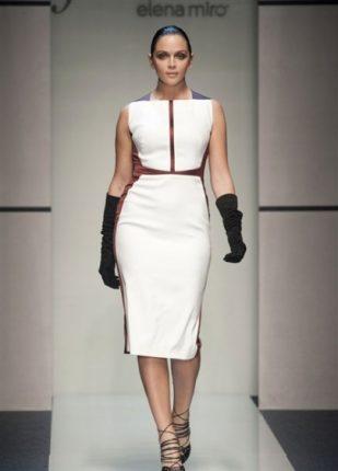 Elena Miro collezione autunno inverno 2013 2014 abito bianco
