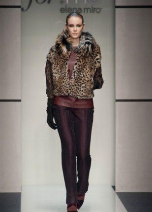 Elena Miro collezione autunno inverno 2013 2014 giaccone pelliccia