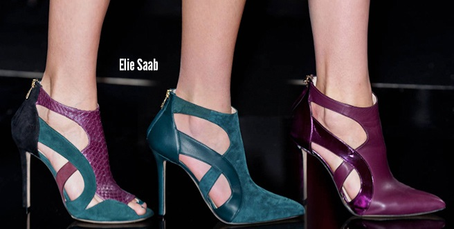 Elie Saab scarpe catalogo autunno inverno 2014 2015