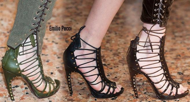 Emilio Pucci scarpe catalogo autunno inverno 2014 2015