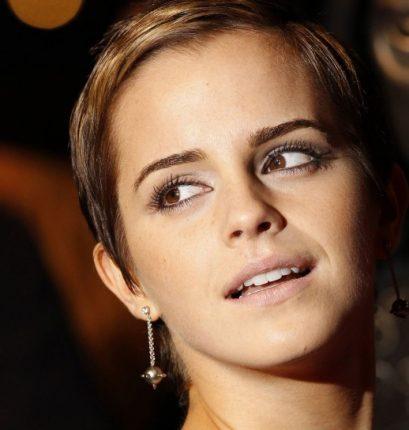 Emma Watson con capelli cortissimi