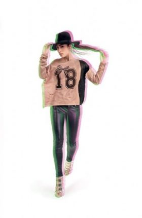 Felpa e leggings in ecopelle Denny Rose primavera estate 2014