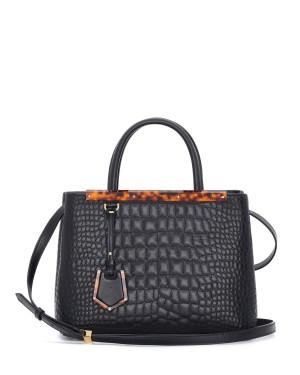 Fendi autunno inverno 2014 2015 Blac Croc Stitched 2Jours Mini Bag