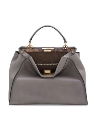 Fendi autunno inverno 2014 2015 Light Gray Peekaboo Large Bag