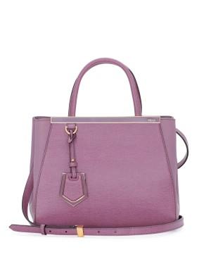 Fendi autunno inverno 2014 2015 Lilac 2Jours Mini Tote Bag