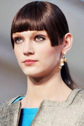 Frangia geometrica capelli donna 2015