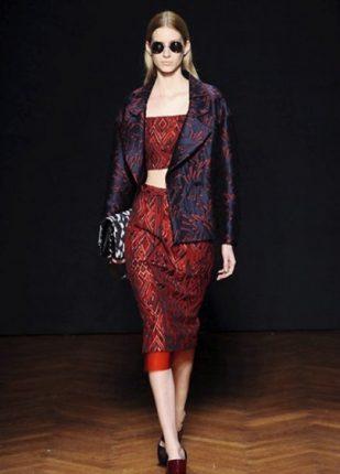 Frankie Morello collezione autunno inverno 2013 2014 gonna giacca top