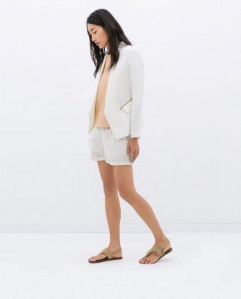 Giacca bianca Zara autunno inverno 2014 2015