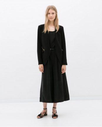 Giacca e gonna nera Zara autunno inverno 2014 2015