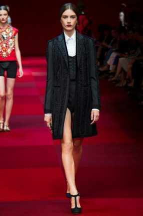 Giacca lunga Dolce & Gabbana primavera estate 2015