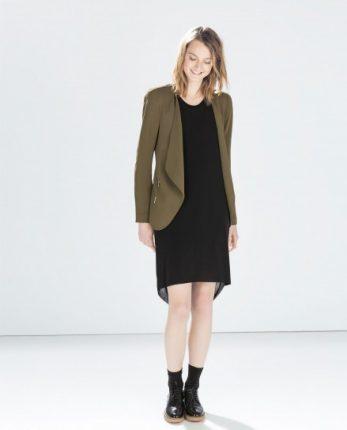 Giacca marrone Zara autunno inverno 2014 2015