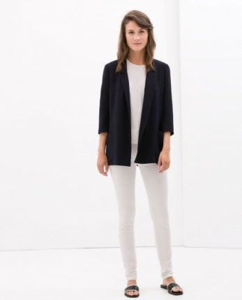 Giacca nera Zara autunno inverno 2014 2015