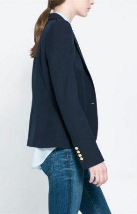 Giacca nera Zara primavera estate 2014