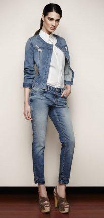 Giacca pantalone jeans Oltre primavera estate 2013