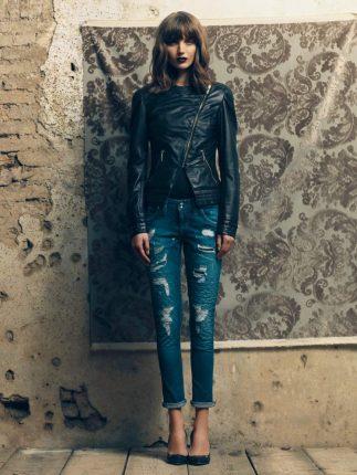 giacca pelle Fornarina autunno inverno 2015